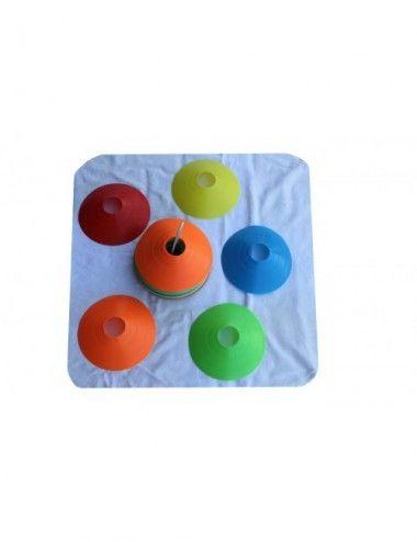 Lisaro Markierungshütchen (50 Stück im Set 5 Farben, 10 pro Farbe) - 1