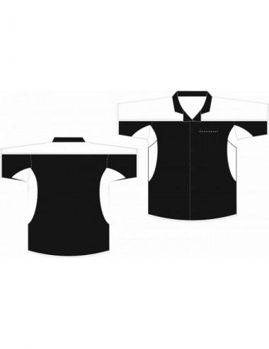 Dart-Hemd schwarz/weiss - 1