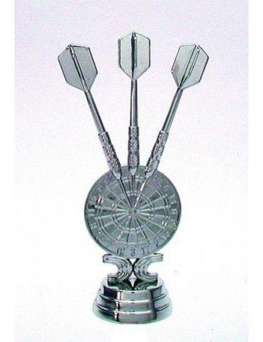 Darts Schraubfiguren 121 mm Höhe silber - 1
