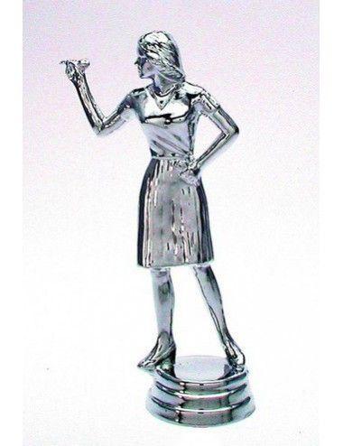 Darts Schraubfiguren Damen 129 mm Höhe silber - 1