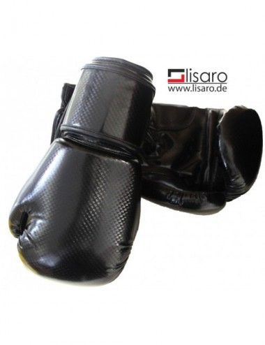 Kinder Boxhandschuhe Reflekt Material, 8 oz, Farbe schwarz - 1