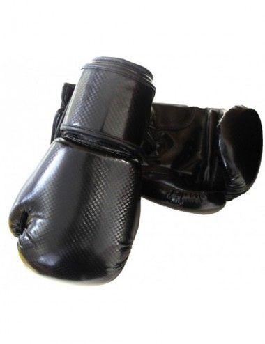 Kinder Boxhandschuhe Reflekt Material, 6 oz, Farbe schwarz - 1