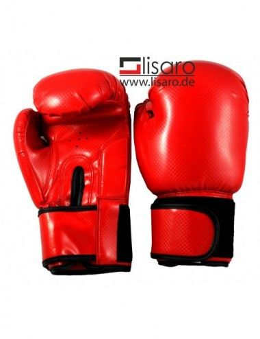 Kinder Boxhandschuhe Reflekt Material, 6 oz, Farbe rot - 1