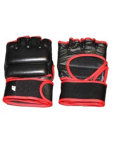 MMA-Handschuh GRAPPLING / FreeFight Handschuhe schwarz-rot - 1