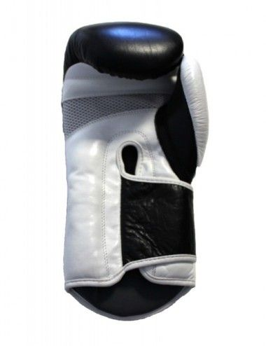 Performance Boxhandschuhe aus echtem Leder  Farbe schwarz-weiß - 1
