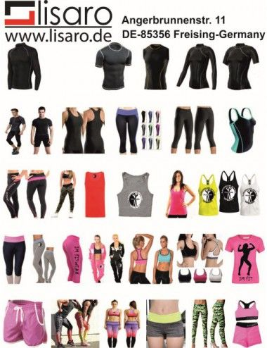 LISARO Full Sublimations T-Shirt, Muskelshirt, Dartsshirts, Hosen, Fitness-Shirts - 1