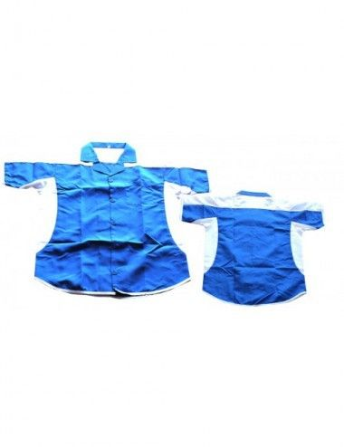 Dart-Hemd Dartstrikot/ Dartsshirts Sonderangebot - blau-weiss - 1