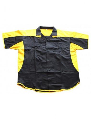 Dart-Hemd Dartstrikot/ Dartsshirts Sonderangebot - schwarz-gelb - 1