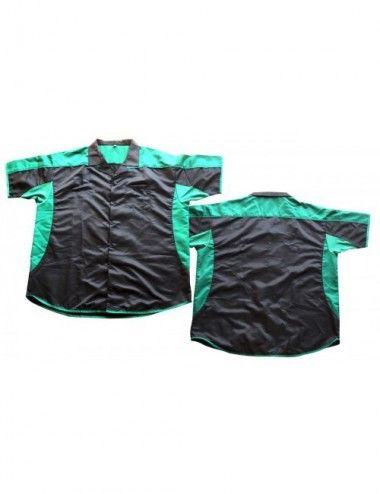 Dart-Hemd Dartstrikot/ Dartsshirts Sonderangebot - schwarz-grün - 1