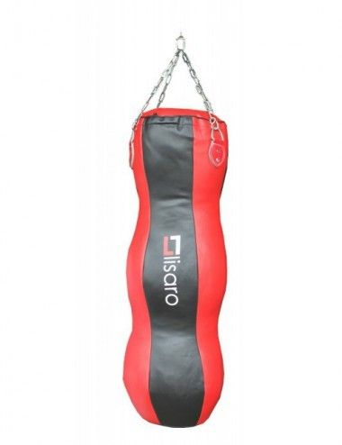 Heavy Duty Body Punch Bag, MMA Boxsack, Spezial BOXSACK, Boxsack Kombo - Kniestöße Bag Gr.120cm Ca.35KG, Farbe: rot-schwarz - 1