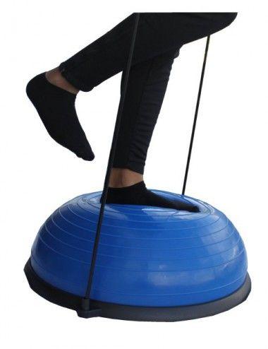 Lisaro Balance Ball/Balancierball | Balance Ball mit 2 Zugbändern beidseitig nutzbar Ideal für Yoga Gymnastik – mit Pumpe - 1