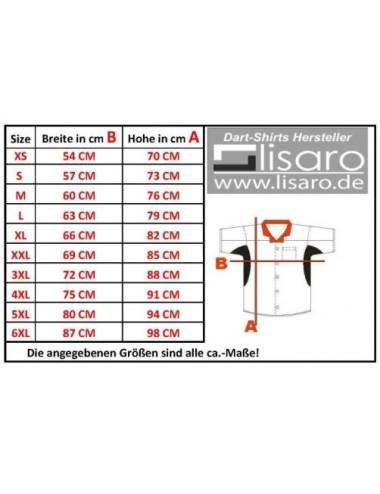 Darthemd schwarz-rot / Dart-Trikot / Dartsshirt - 4