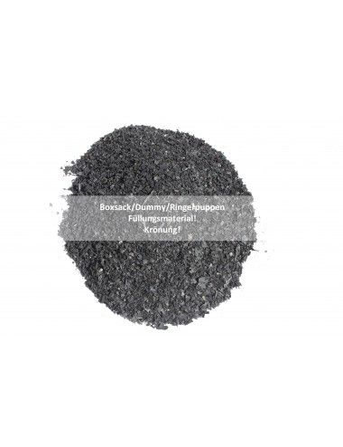 Boxsackfüllung Gummigranulat | 25kg Schwarz – Füllungsmaterial Made IN Germany | Dummy-Füllung – Maisbirne-Füllung / Grob - 1