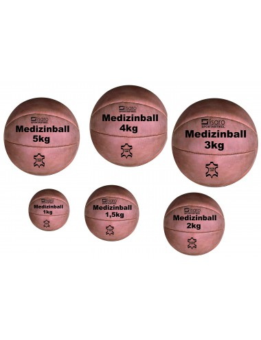 Leder-Medizinball 1 kg - 3