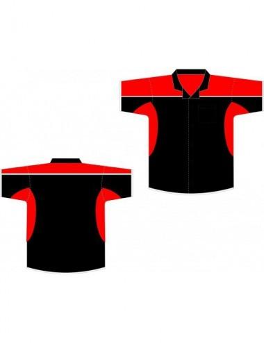 Darthemd schwarz-rot / Dart-Trikot / Dartsshirt - 1