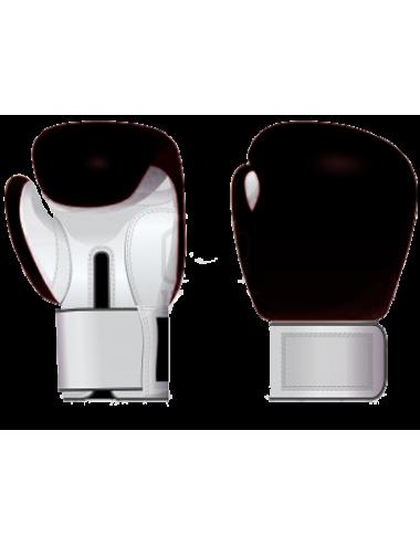 Box-Handschuhe aus Leder schwarz/weiß - 1