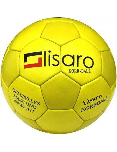 Lisaro Korbball aus strapazierfähigem Kunstleder, Korbball Top Grip gelb - 3