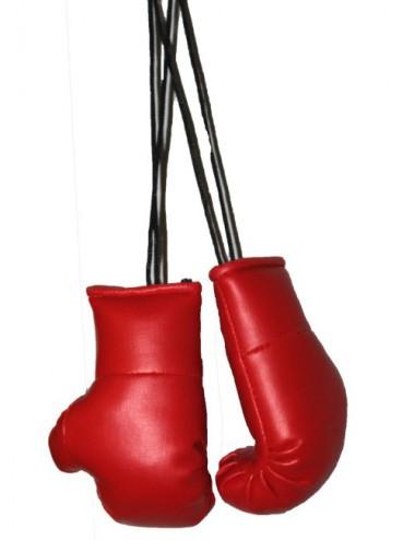 Mini Boxhandschuhe für den Autospiegel rot - 1