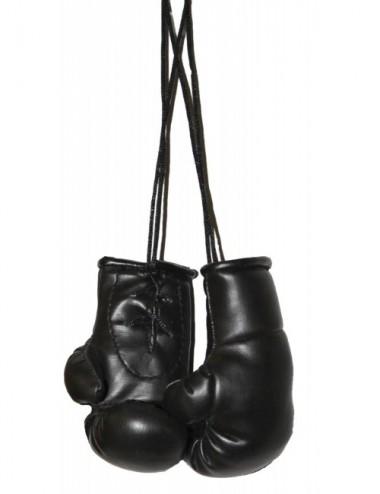 Mini Boxhandschuhe für den Autospiegel schwarz - 1