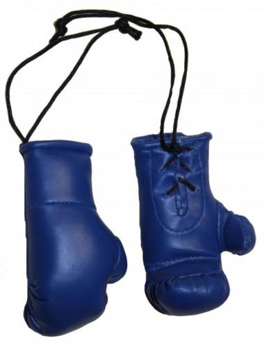 Mini Boxhandschuhe für den Autospiegel blau - 1