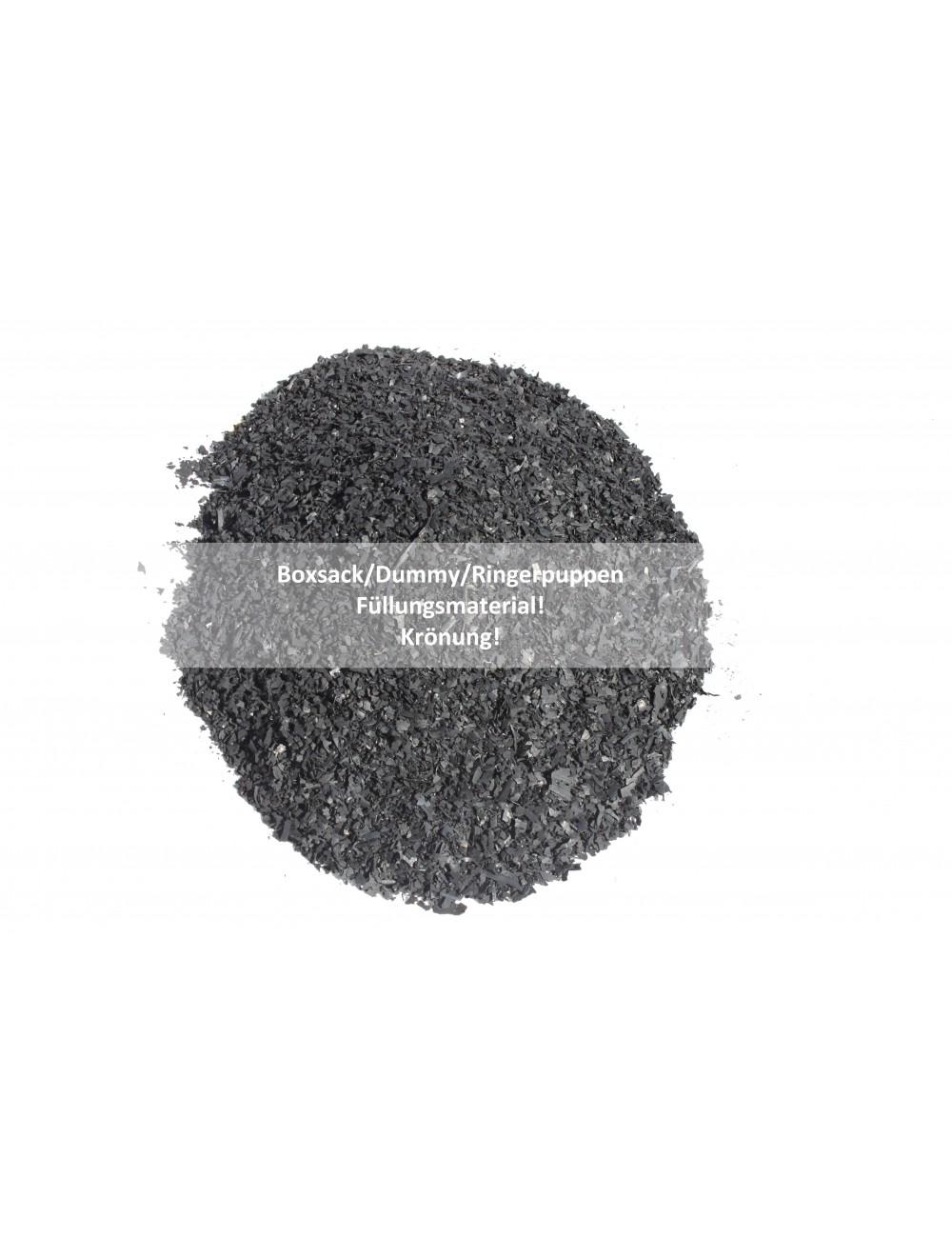 Boxsackfüllung Gummigranulat | 25kg Schwarz – Füllungsmaterial Made IN Germany | Dummy-Füllung – Maisbirne-Füllung / Fein - 2
