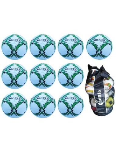 Ballpaket Nummer 7 | Gr. 5 grün-weiß - 1