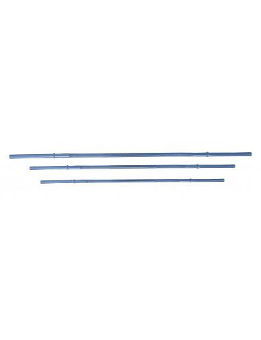 Langhantel-Stange mit Schnell-Federverschlüssen 120/160/182 cm - Standardnorm, verchromt | Scheibenaufnahme Ø 30 mm - 1