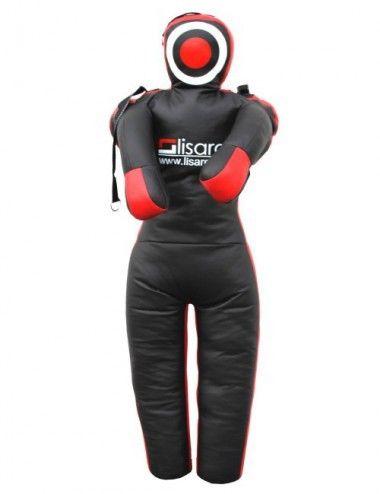 Training Dummy/Training Puppe mit schlaufen(Straps) schwarz-rot - 1