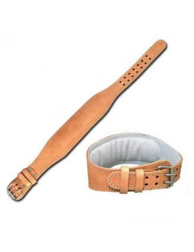 Gewichthebergürtel aus Leder Farbe Braun - 1