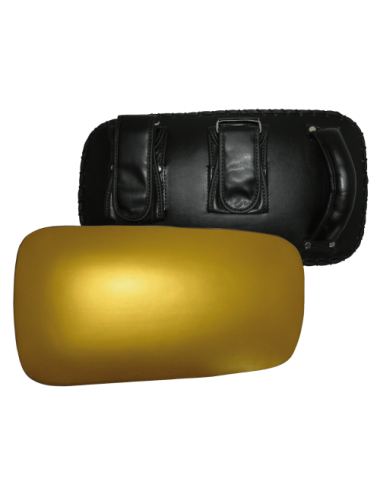 Kick Pad / Thai Kick Pad /Kick-Box Pad schwarz/gold - 1