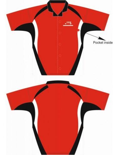 Lisaro Cooldry Dart-Hemd schwarz/rot/weiß - 1