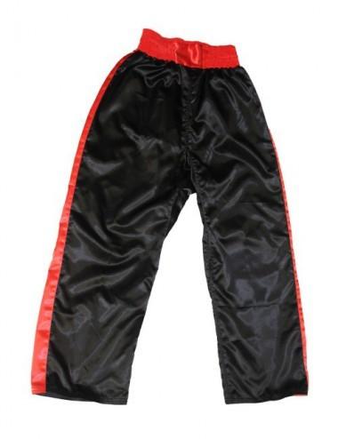 Lisaro Satin-Hose / Kickboxhose schwarz-rot - 1