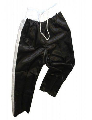 Lisaro Satin-Hose / Kickboxhose schwarz-weiß - 2