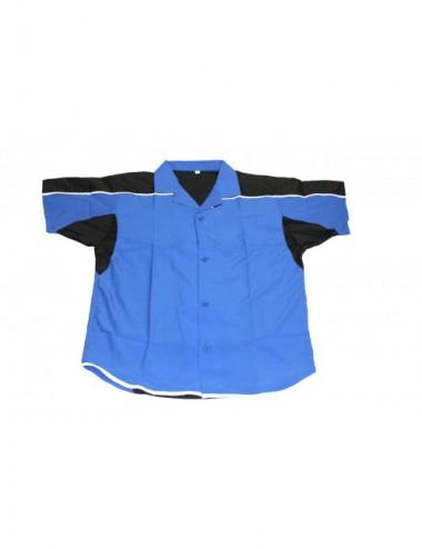 Darthemd blau/schwarz / Dartstrikot / Dartsshirts - 1