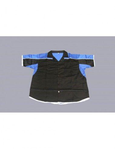 Darthemd schwarz/blau / Dartstrikot / Dartsshirts - 1