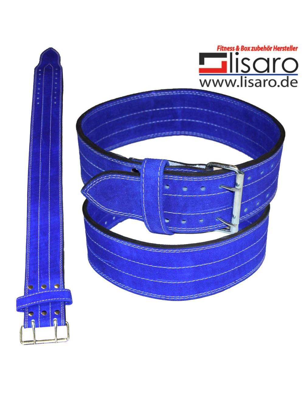 Power Wettkampfgürtel / KDK-Gürtel aus Leder blau - 1