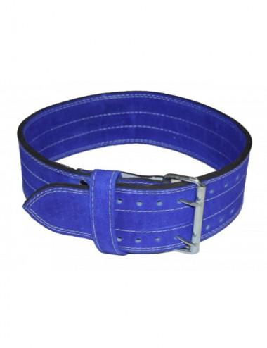 Power Wettkampfgürtel / KDK-Gürtel aus Leder blau - 3