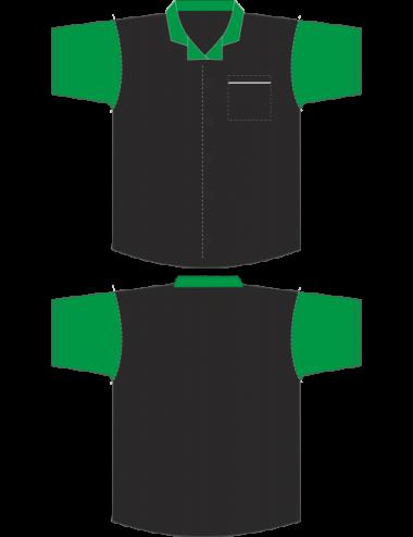 Darthemd schwarz/grün - 1