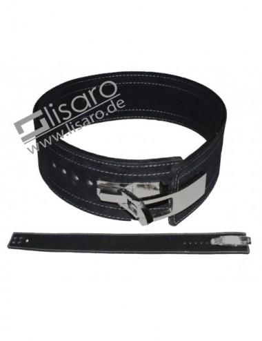 Profi KDK Powergürtel / Lever Belt 10mm aus Leder mit Pressschnalle - 1