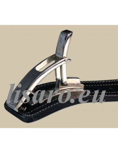 Profi KDK Powergürtel / Lever Belt 10mm aus Leder mit Pressschnalle - 3