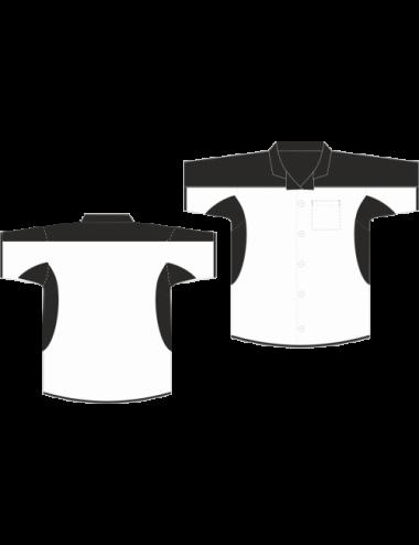 Darthemd schwarz/weiß - 1