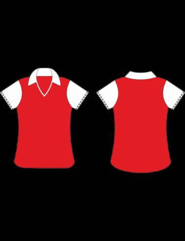 Lady Dart Shirt rot/weiß - 1