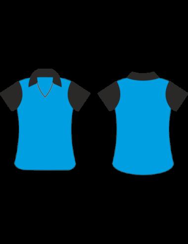 Lady Dart-Shirt blau/schwarz - 1