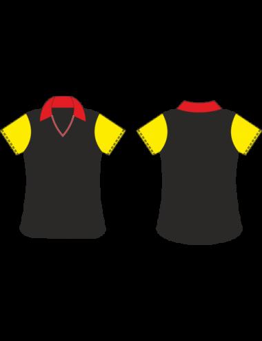 Lady Dart-Shirt schwarz/rot/gelb - 1
