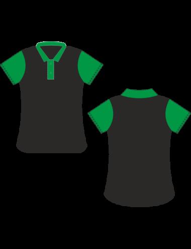 Lady Dart-Polo  schwarz/grün - 1