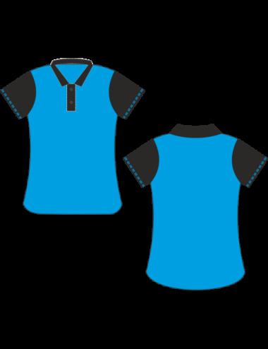Lady Dart-Polo  blau/schwarz - 1