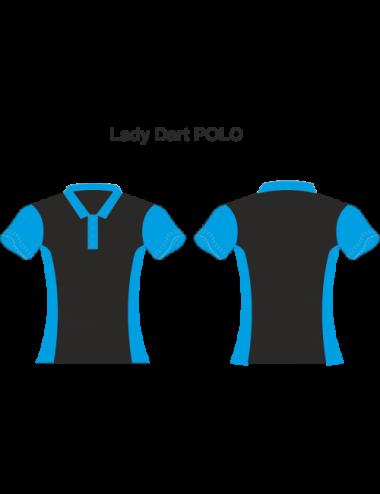 Lady Dart-Polo schwarz/blau - 1
