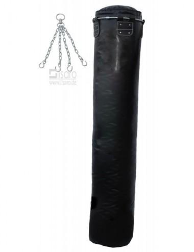Boxsack/Sandsack schwarz 180 X 35cm mit Metallring - 1