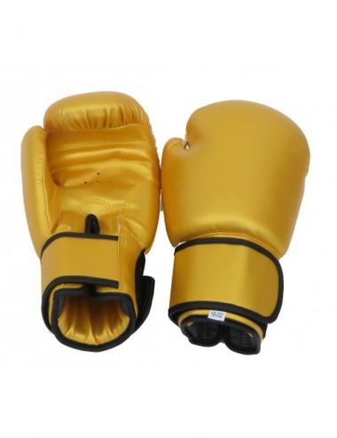 Box Handschuhe aus Kunstleder Farbe GOLD - 1